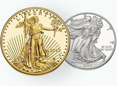 silver & gold coins
